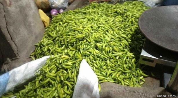 কেজিতে ৬০ টাকা কমল কাঁচামরিচের দাম